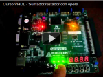 Curso VHDL – Sumador/Restador con operadores aritméticos