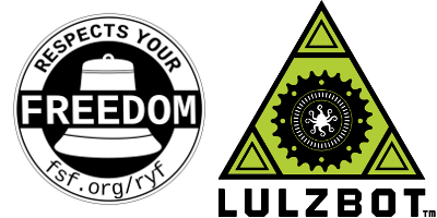 "Lulzbot AO-100 certificada como ""Respects your Freedom"""