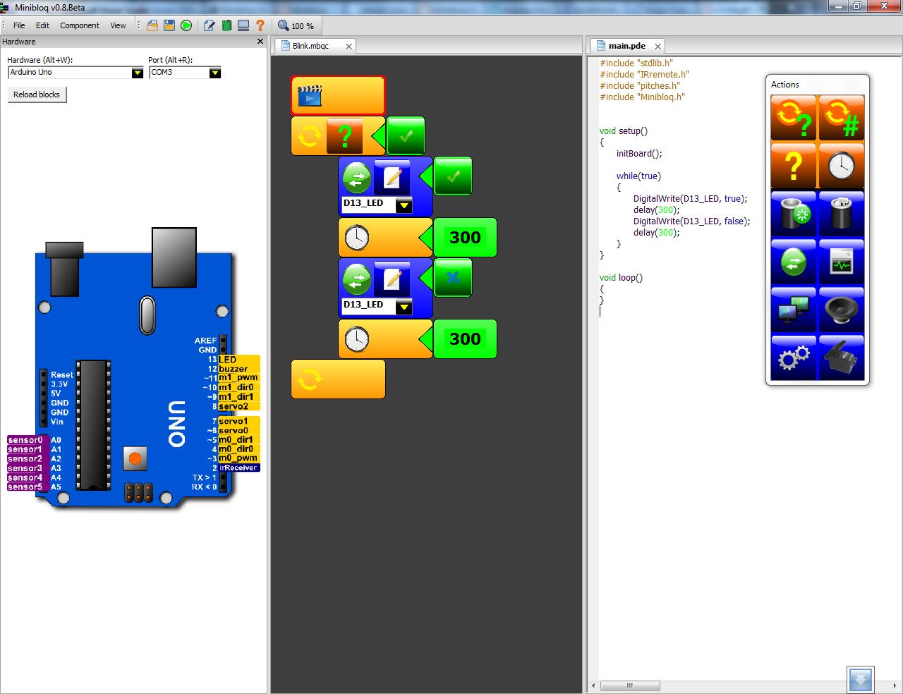 Minibloq beta disponible para descargar mexchip